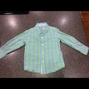 Other - BOYS PLAID BUTTON UP